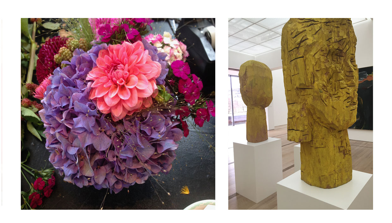 Blumen und Baselitz