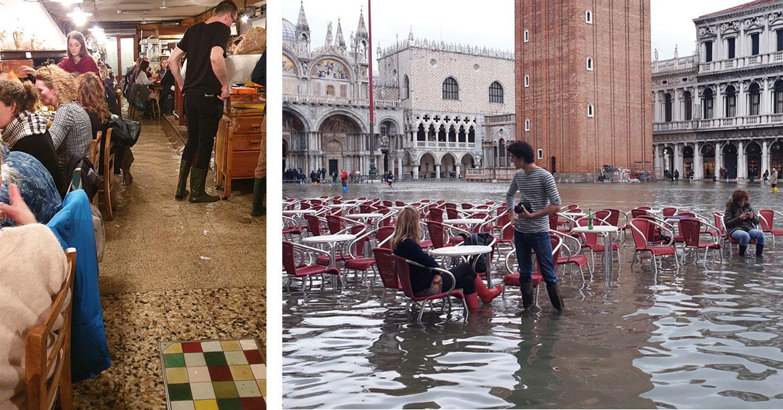 Hochwasser durch Kreuzfahrtschiffe